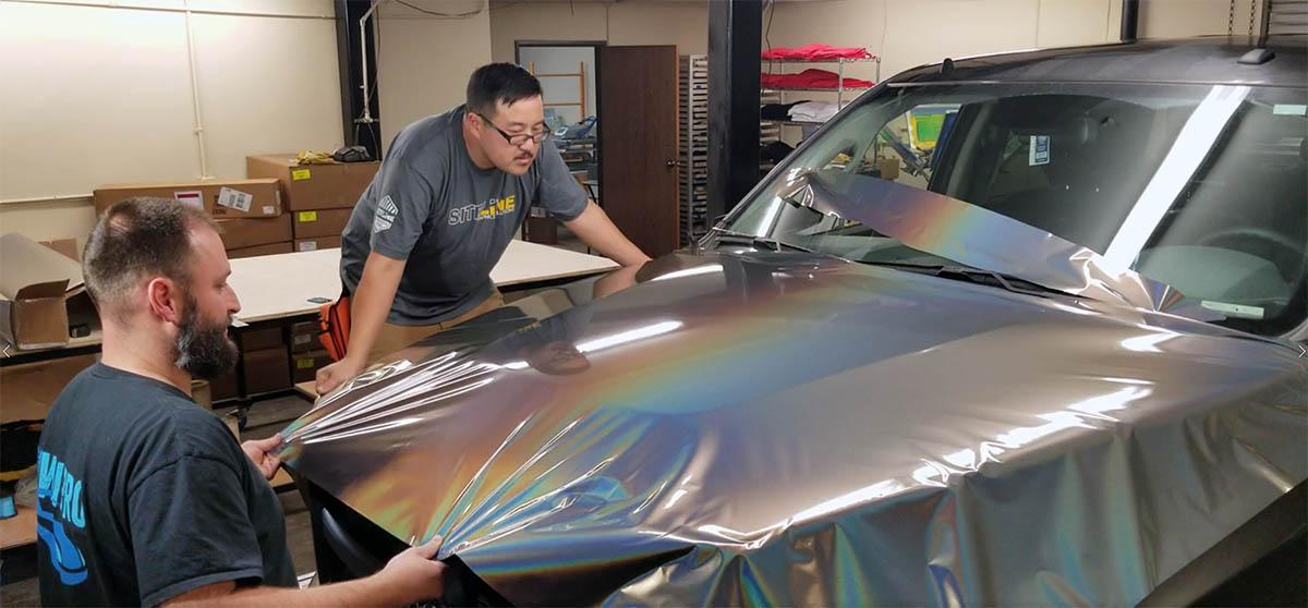 Car Wrap Installation