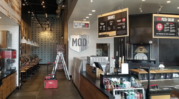 Mod Pizza Remodel and Construction